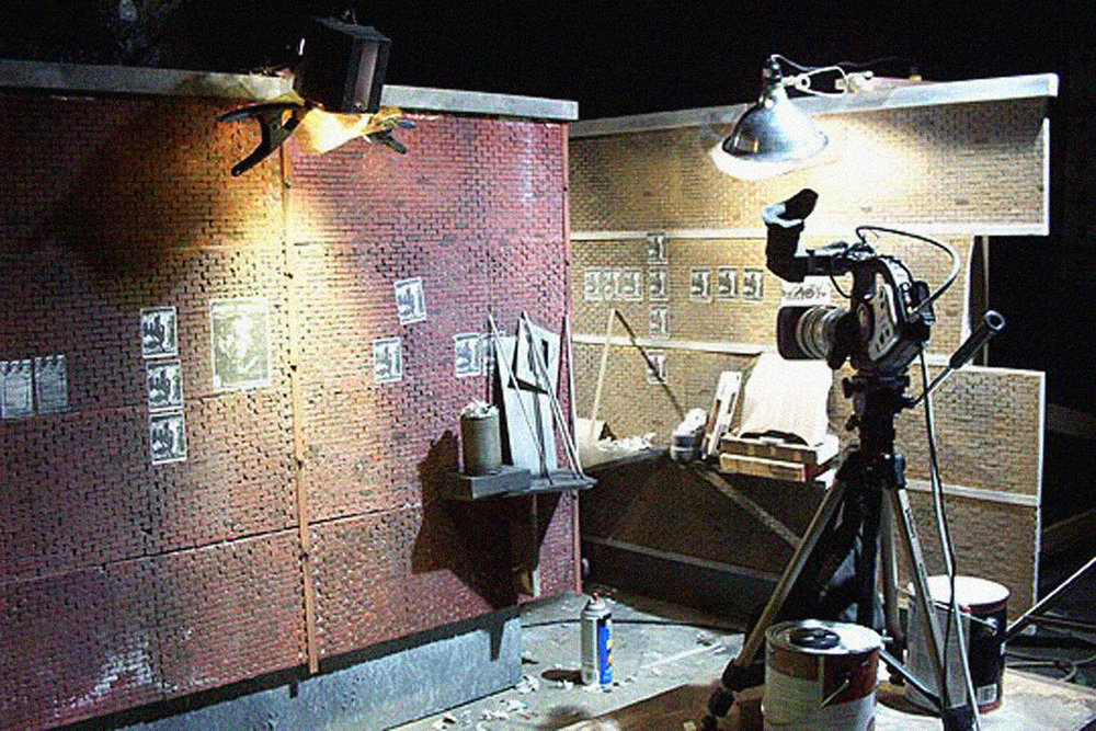 "A miniature alley from ""Guardian Of The Realm"". It was decided in post to add shots that weren't obtained during the main unit shoot, so a miniature was built and matched to the limited live-action set."