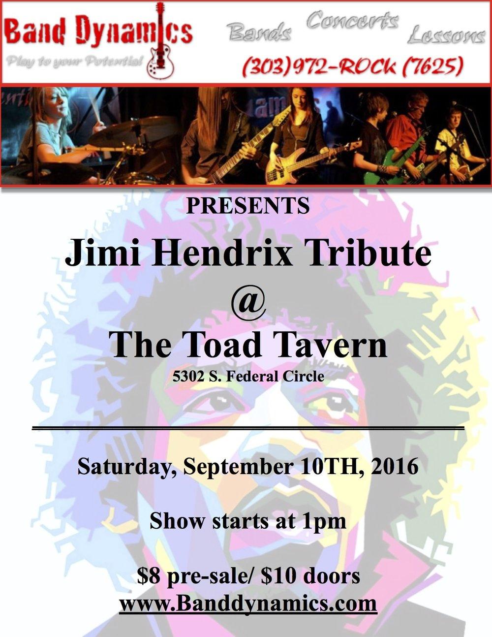 Jimi Hendrix concert poster