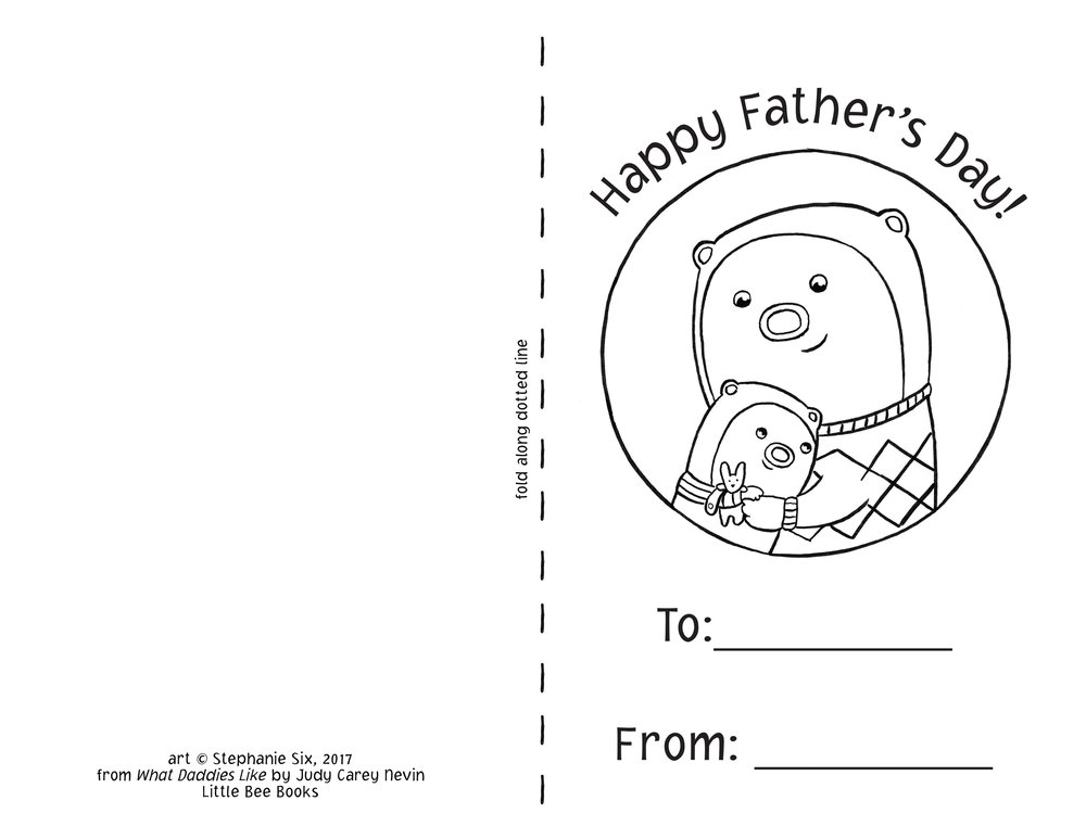 Father's Day Color-in Card