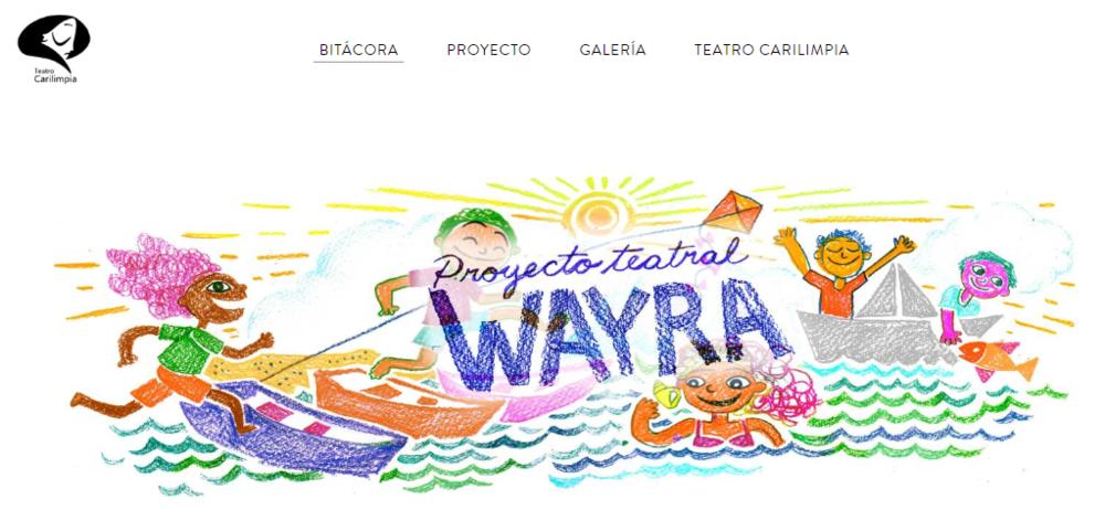 """Wayra es viento en la lengua indígena aymara de América del Sur. También, es el nombre de la heroína de nuestra próxima aventura teatral: """"Wayra, el marinero y el chamán"""". La niña que encontró el viento"""". Te invitamos a vivir con nosotros este viaje, en el que estaremos compartiendo con niñas y niños de varias comunidades en sus escuelas, documentando sus historias y jugando. Visita nuestro blog!    https://proyectoteatralwayra.weebly.com"""