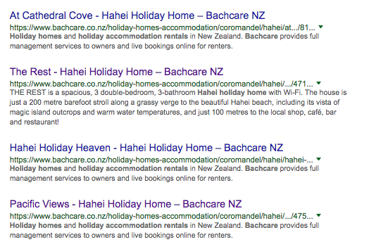 Search result hahei Holiday Homes bachcare
