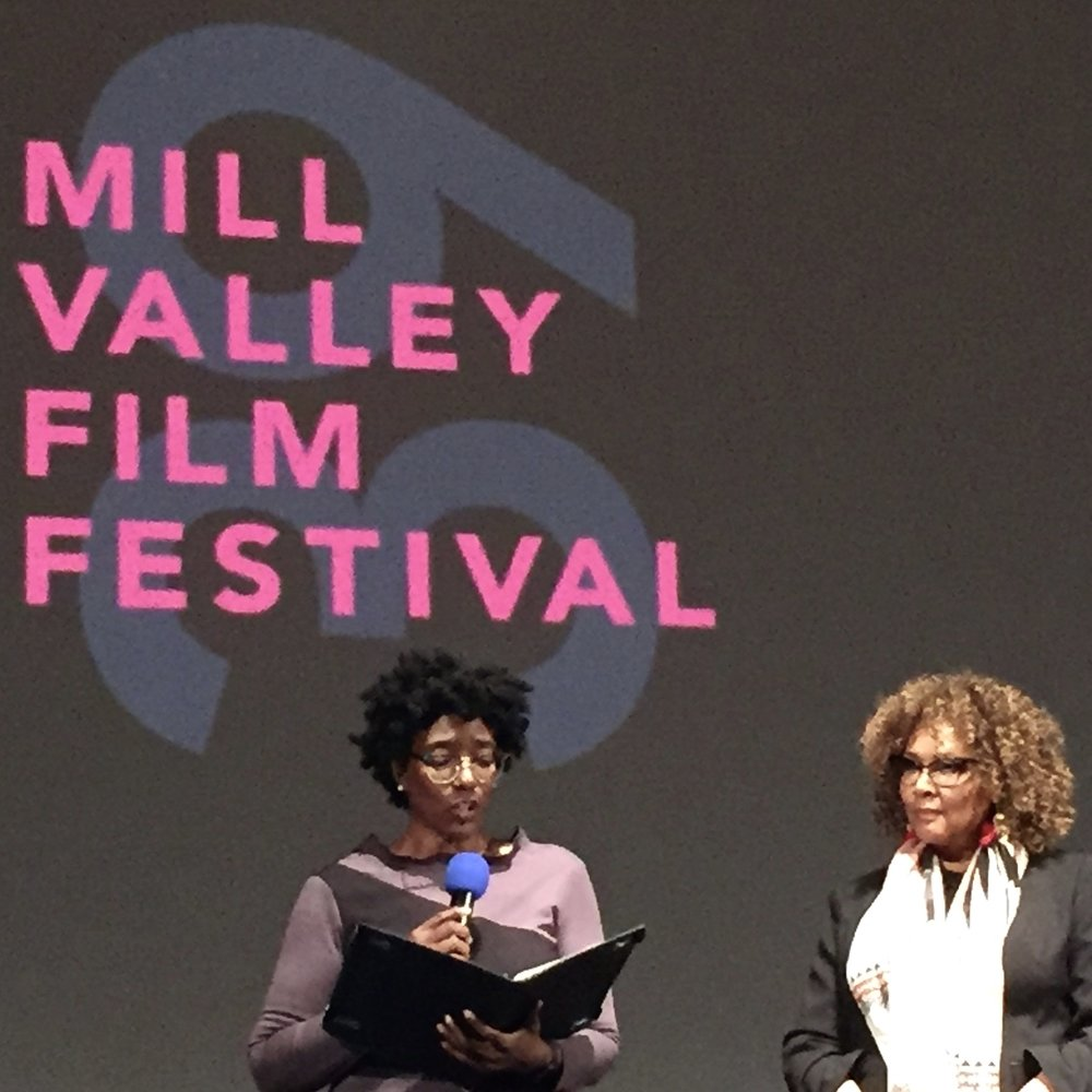September Williams presents the MVFF award to Julie Dash