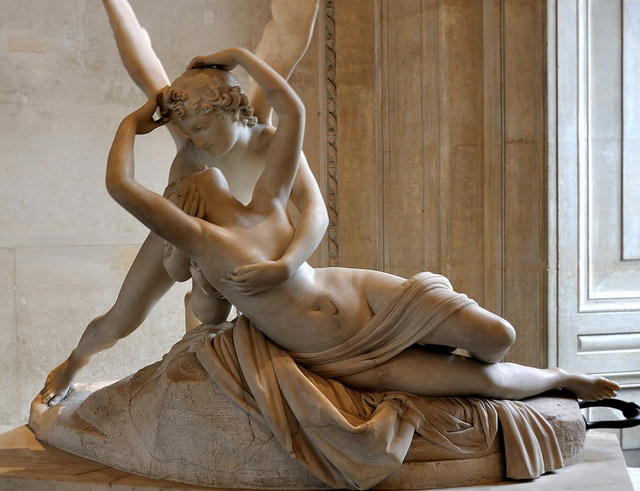 Goddess Psyche and Eros