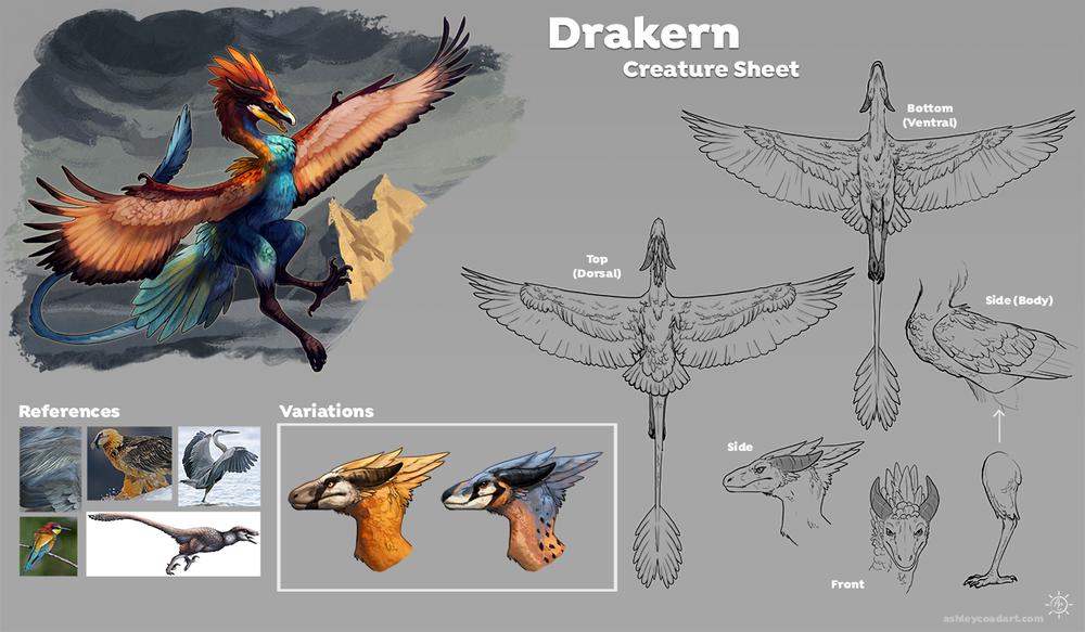 Andras: Drakern Mount Creature Concept
