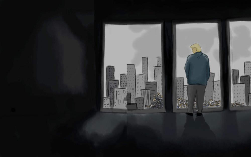 Trump in his Tower