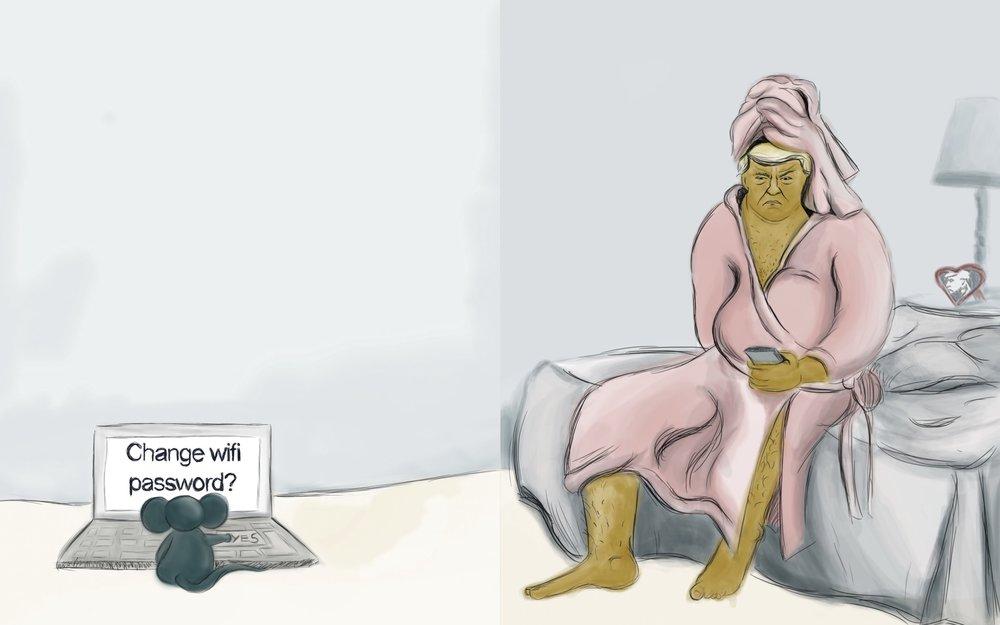 Trump in his Robe