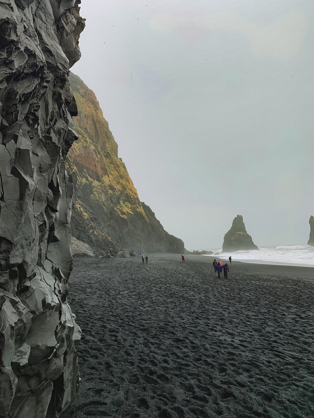 Our first stop was Black Sands Beach, which is known for its incredible basalt rock formations.