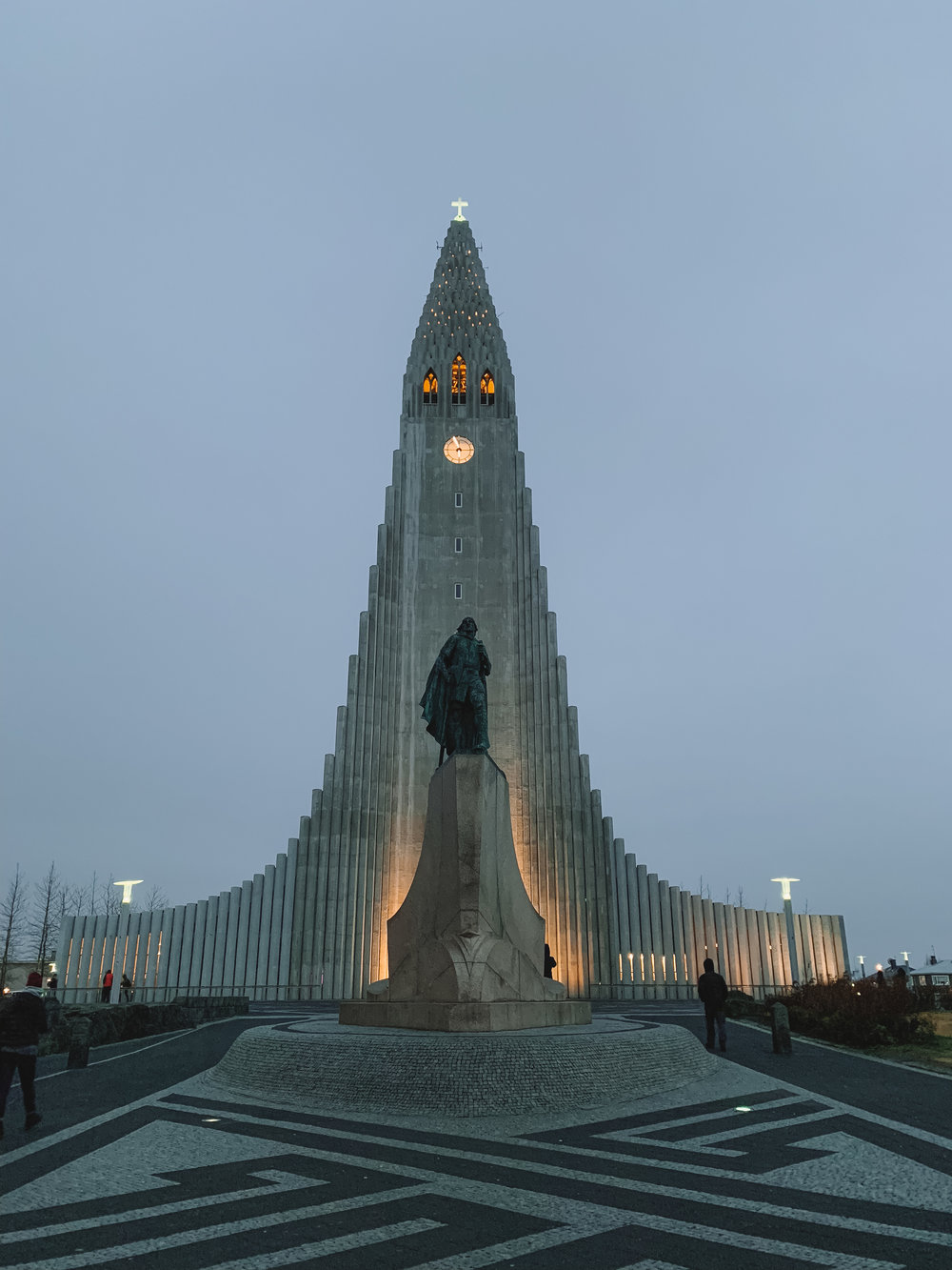 When we finally got back to Reykjavik we only had a few minutes of sunlight left so we went to the one landmark we knew about. The church is modeled to look like the basalt columns that we visited earlier in the day!