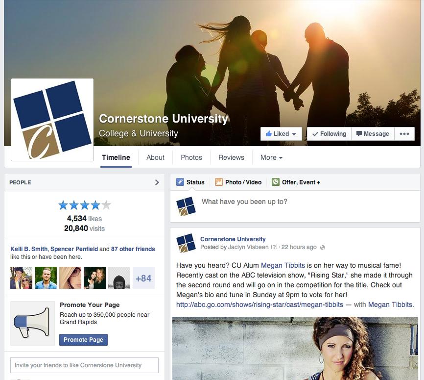 Cornerstone University Facebook