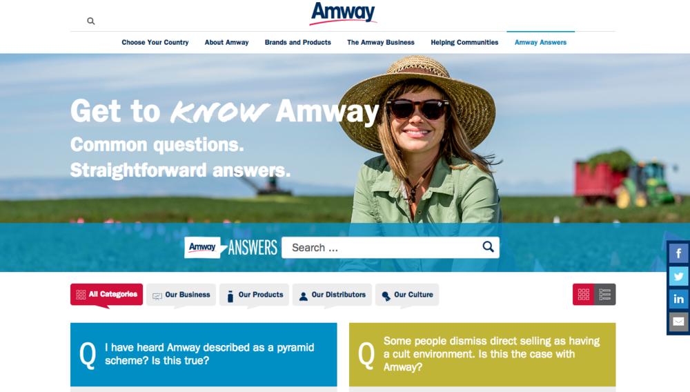 Amway Answers Copywriting