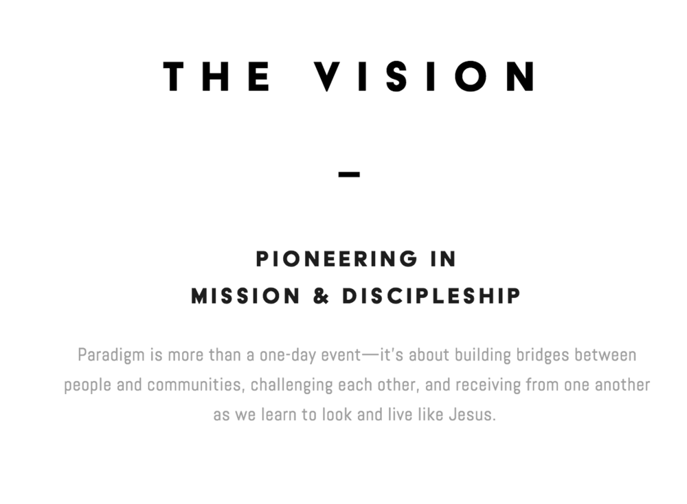 Paradigm Mission Statement