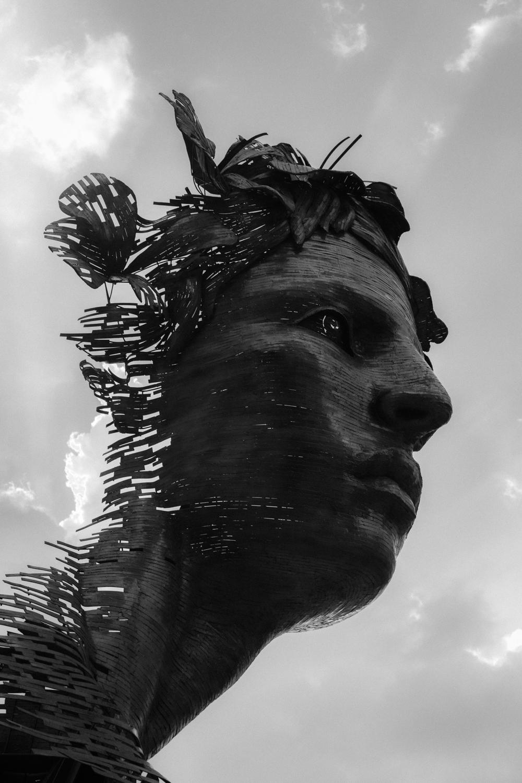 The sculpture Primavera, by Rafael San Juan overlooks the Malecon in Havana, Cuba.