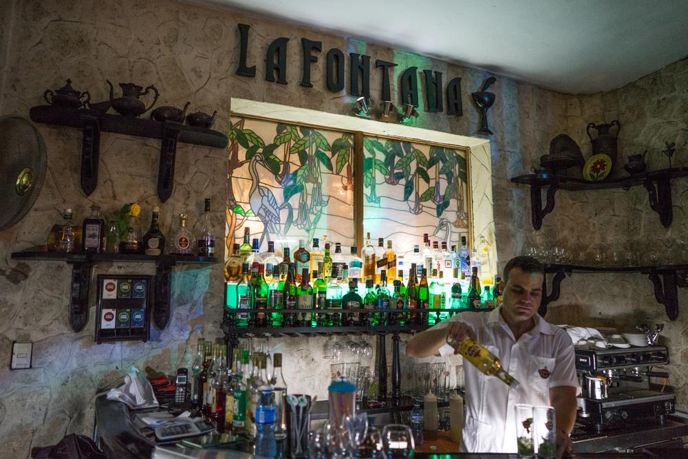 La Fontana. Located in Miramar this elegant, unique interior, serves Caribbean, Spanish, and Cuba grill.