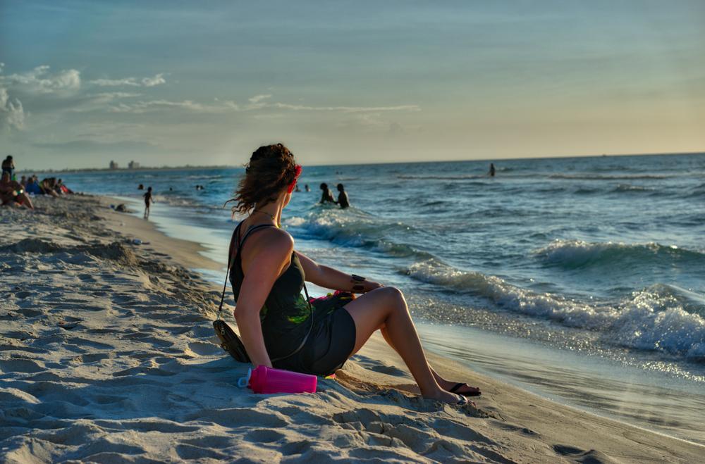 Varadero beach at sunset.