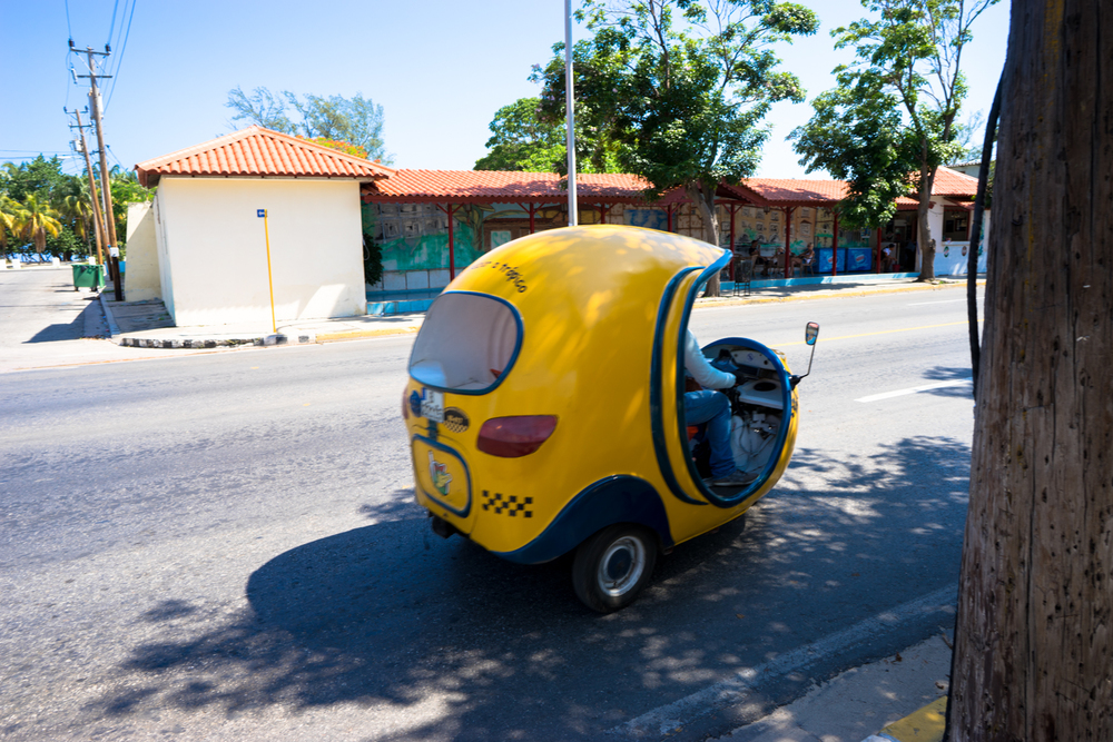 Cocotaxi, a convenient way to travel around Cuba for cheap.