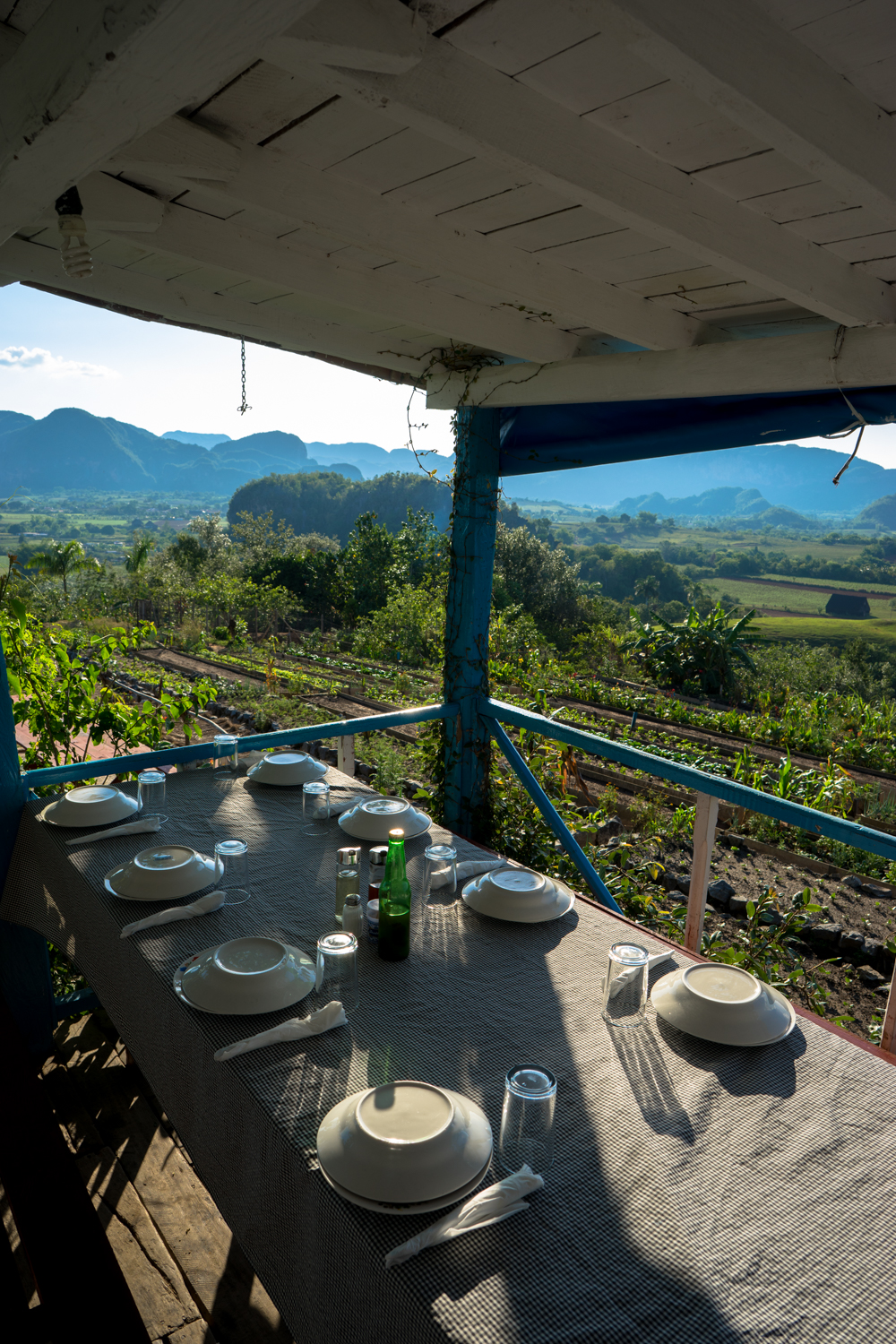 Sunset dinner at the Finca Agroecologica El Paraiso.