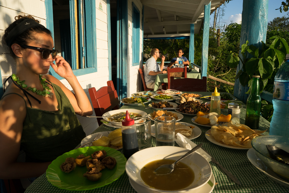 The sunset buffet dinner at Finca Agroecologica El Paraiso on our last night in Cuba. An overwhelming amount of food for 10 CUC.