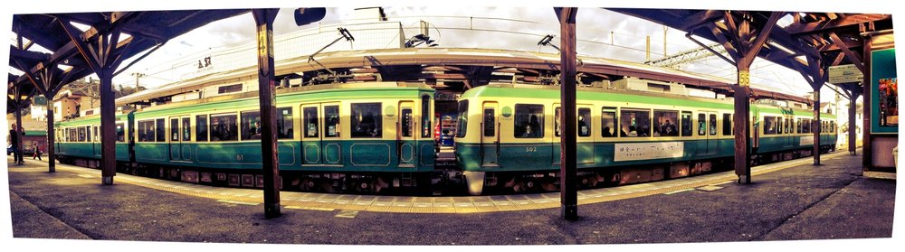 Enoden line train in Kamakura