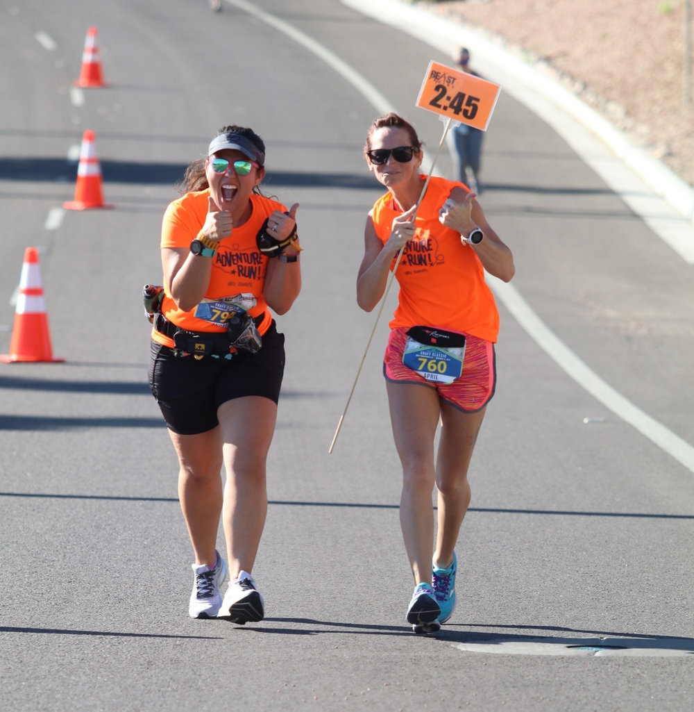 With Beast Pacing on October 15, 2017 at the Craft Classic Half Marathon in Fountain Hills, AZ
