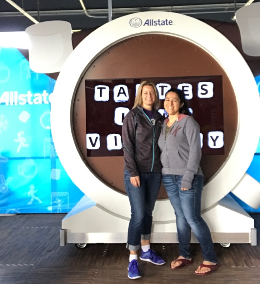 My friend Mysti and I at the AllState photo booth.