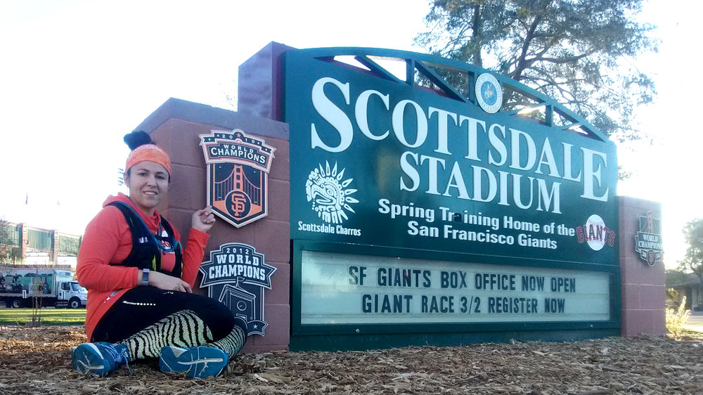 Checking out the Scottsdale Stadium before this Saturday's Giant Race.