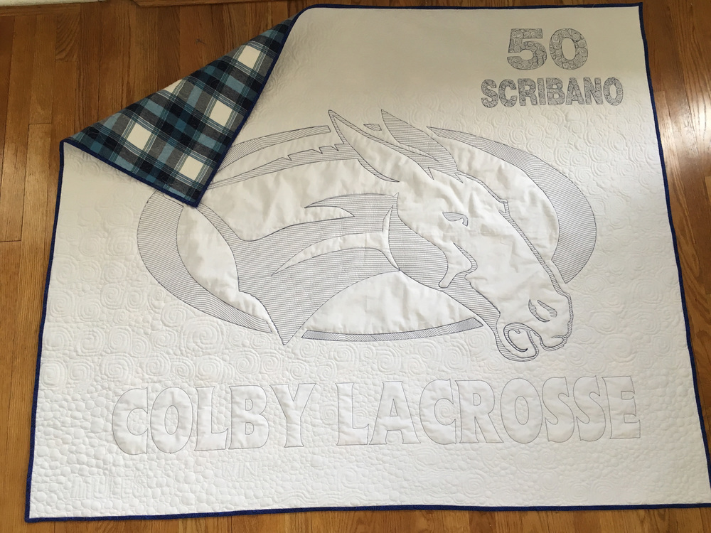 Custom made stadium blankets with name and number