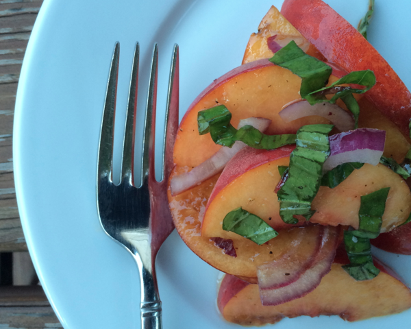 caroline's kitchen table - peach salad