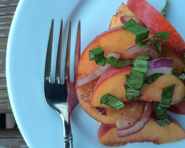 caroline's kitchen table - peach salad