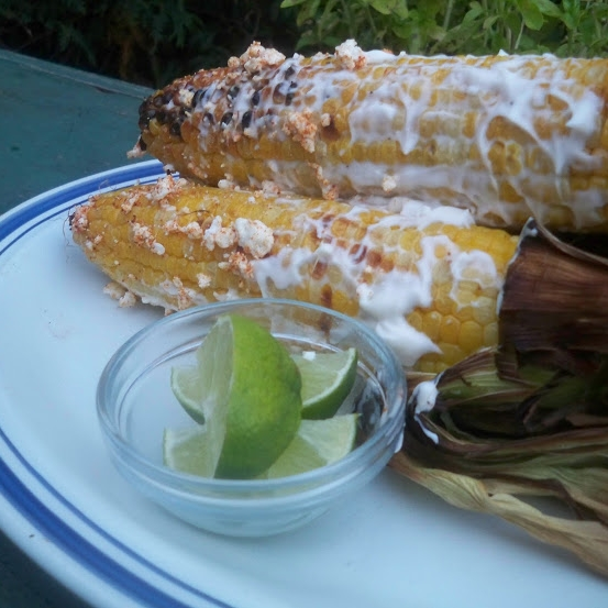 caroline's kitchen table - grilled corn