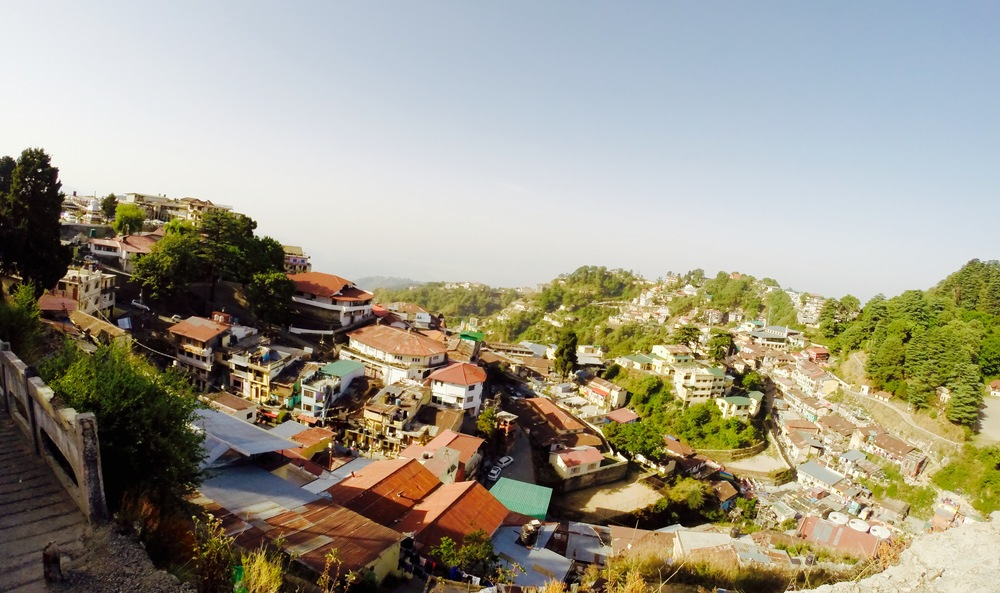 Aerial view of Mussoorie from Landour.