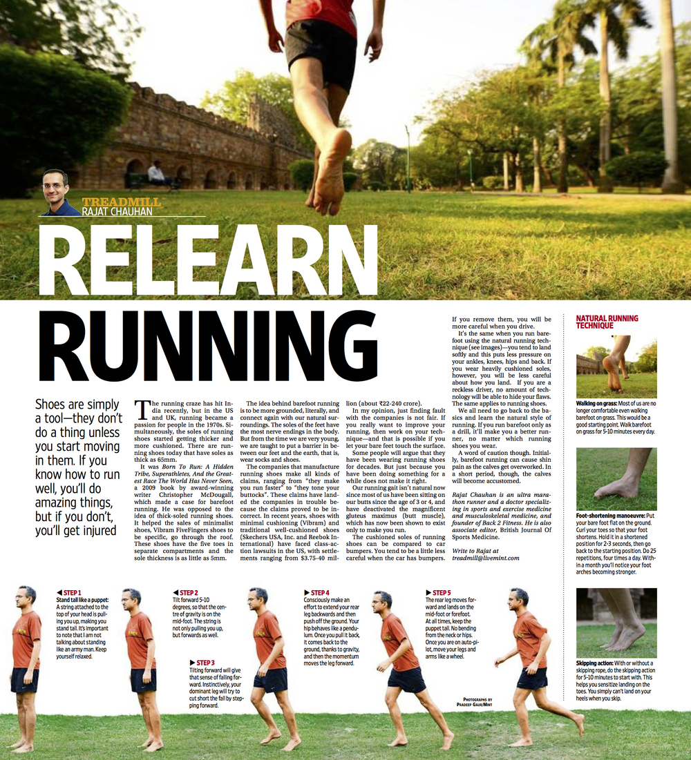The above piece was published in  Mint newspaper in June 2014 . Through the podcast, I'll slowly take you through very basics of running. Start listening now.