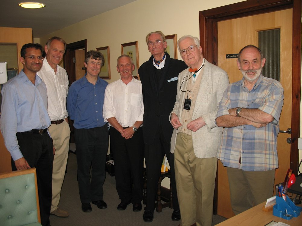 During a workshop conducted by my tutors and senior colleagues in 2004. (From left to right) Me, Dr Mike Hopkins, Dr Peter Wilkin, Dr Michael Monk, Dr Mike Burleigh Carson, Dr Douglas Longden and Dr Roderic Macdonald.
