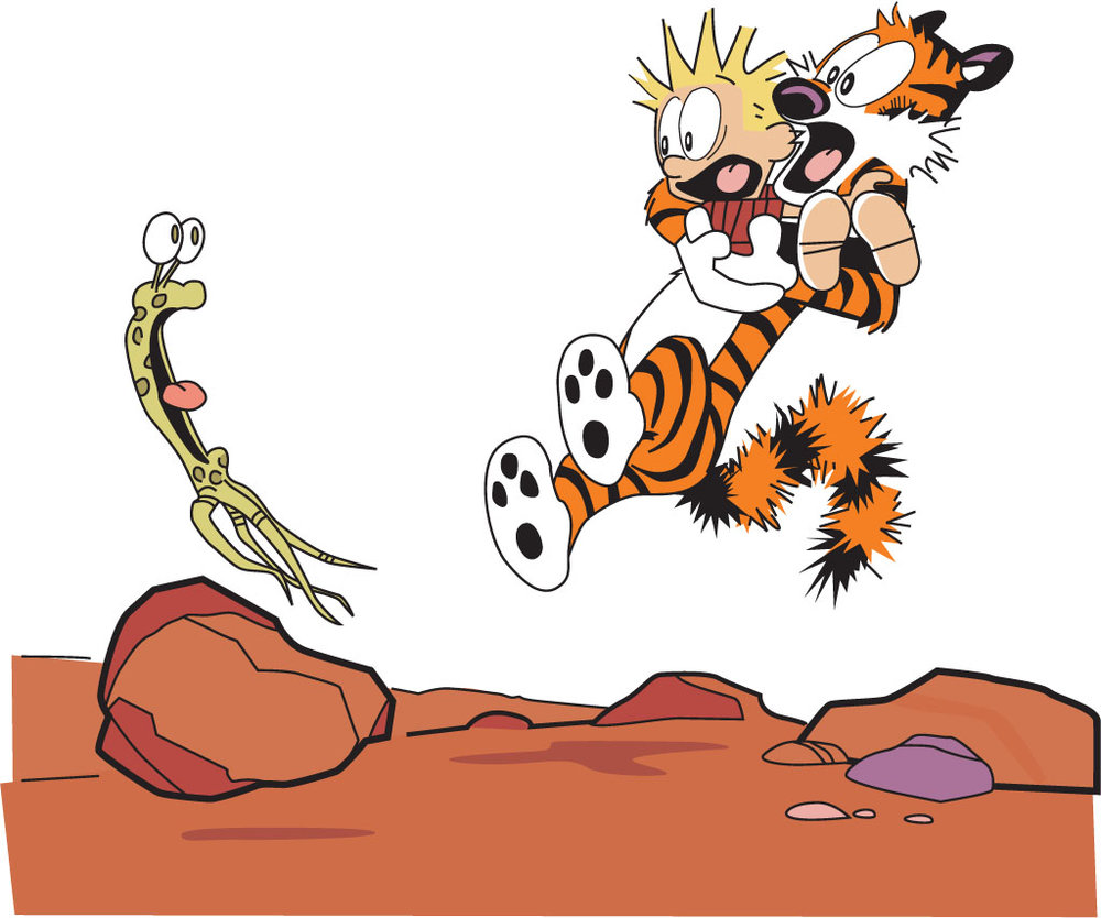Calvin scared 1