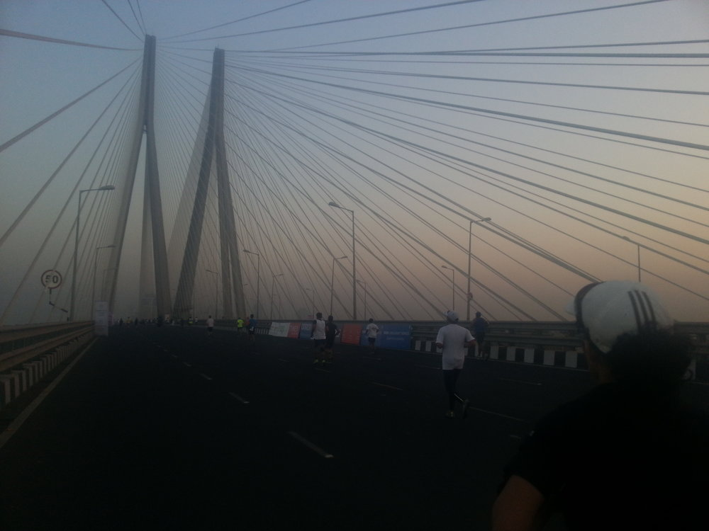 During 2012 & 2013 Mumbai marathon, I ran with friends to pace them. Here is a link to pics from Mumbai. They'll come in handy for folks running first time in Mumbai marathon.