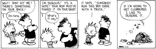 Calvin & Hobbes Bullies