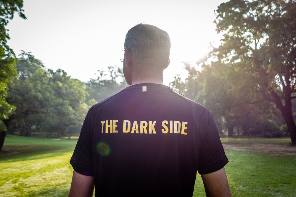 Various reasons for 'The Dark Side' on the back side.