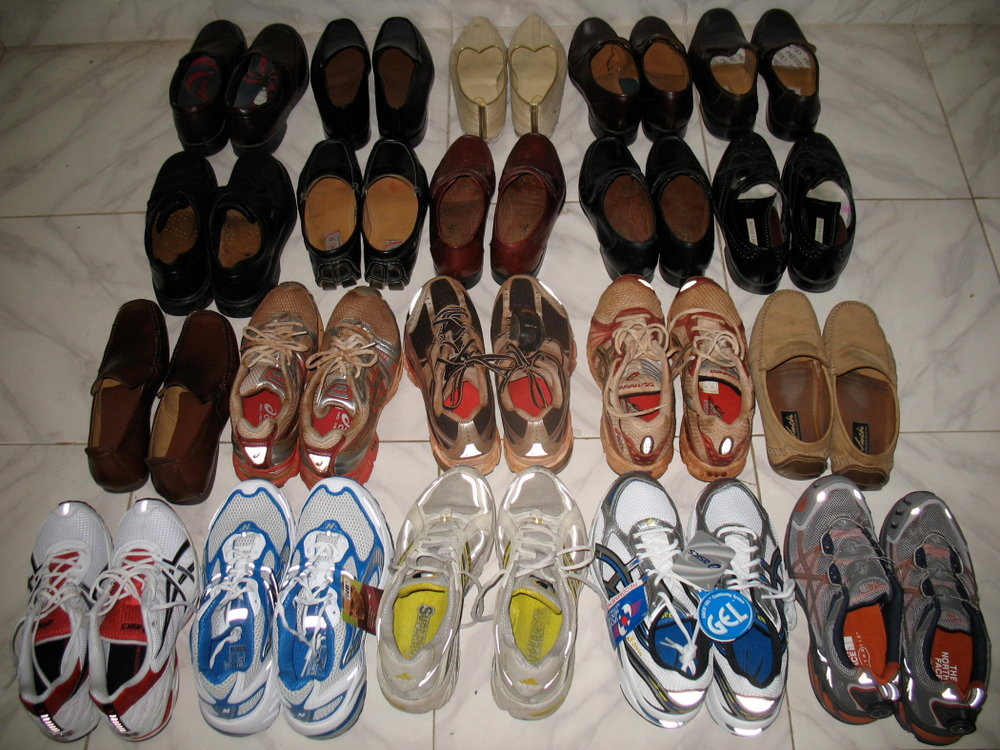 My shoe collection from a decade back