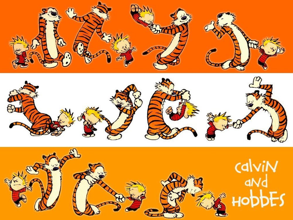 Break in to a Carefree Calvin and Hobbes Dance with your child a few times a day