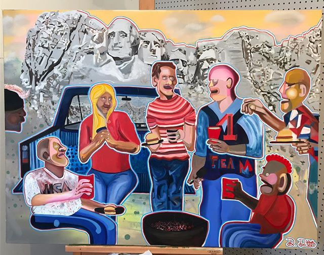 #NewWork #FutureAmerica #OilOnCanvas #oilpainting #artist #DamonDeWitt