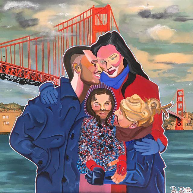#FutureAmerica #NewWork #oilpainting #sanfrancisco #goldengatebridge #ahmaitland #artist #damondewitt