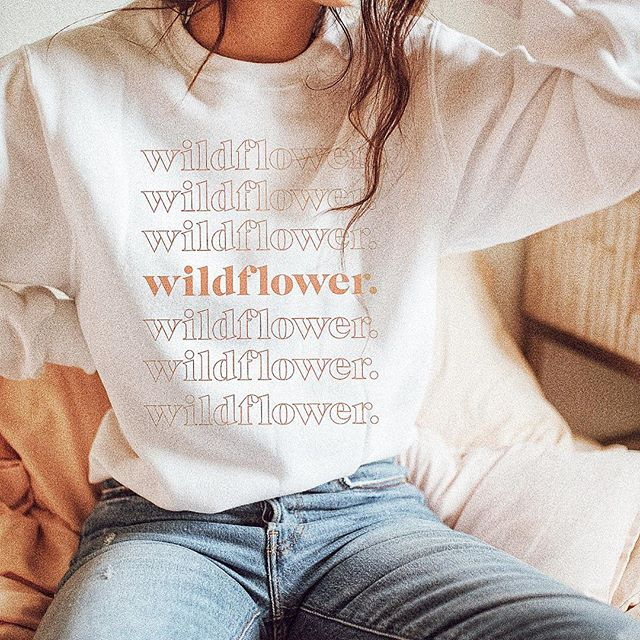 Major design inspo from our friend @wldflwr.shop 💛 We're all about the creativity! #SweaterWeather #WldFlwr #DesignYourOwn #GrandlineGraphics