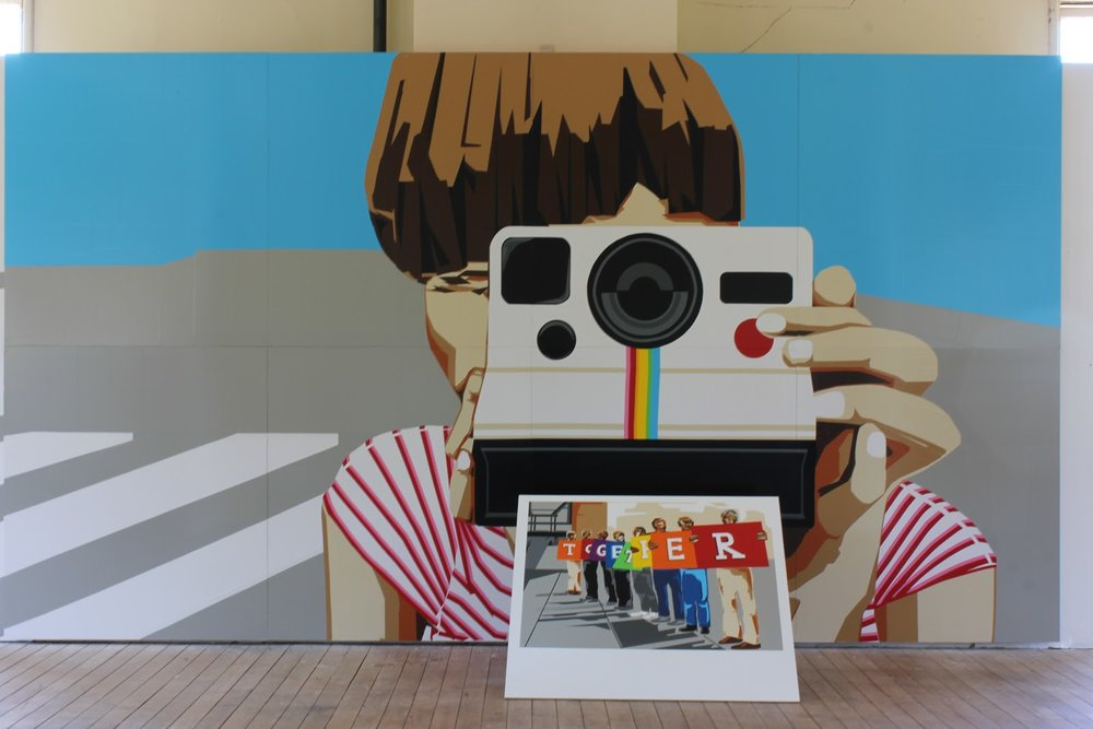t.w.five's original installation of the Polaroid series at Headlands Center for the Arts in July 2015