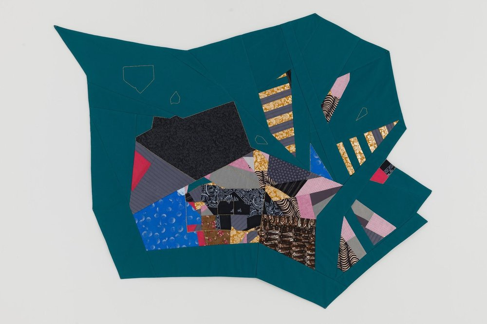 Untitled (Polygon) , 45 x 56 inches, fabric, 2014