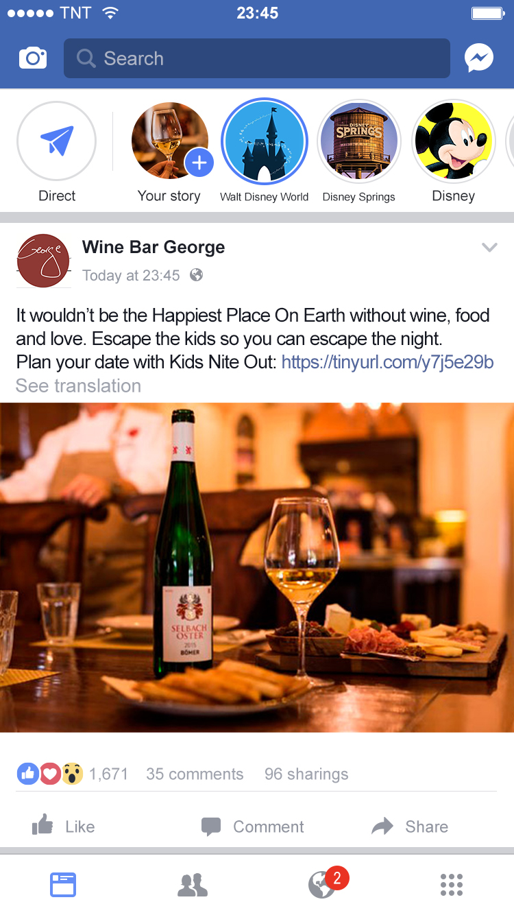 wine bar george ad