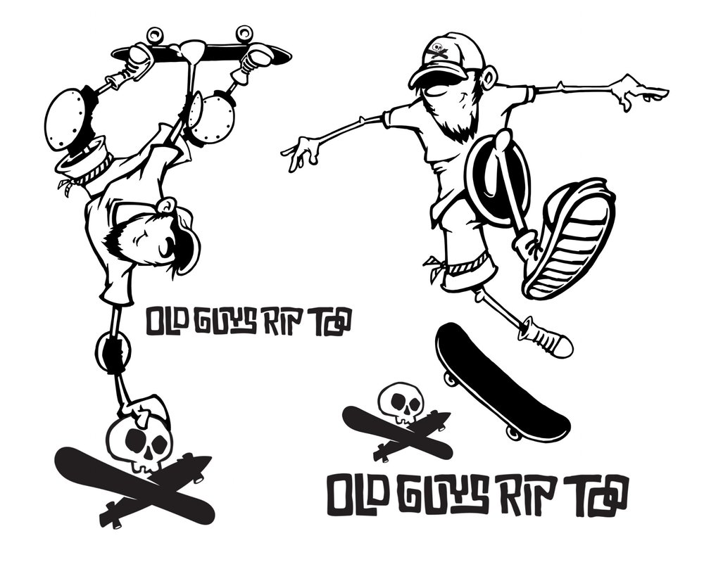 Old Guys Rip Too Logo T-shirt Design