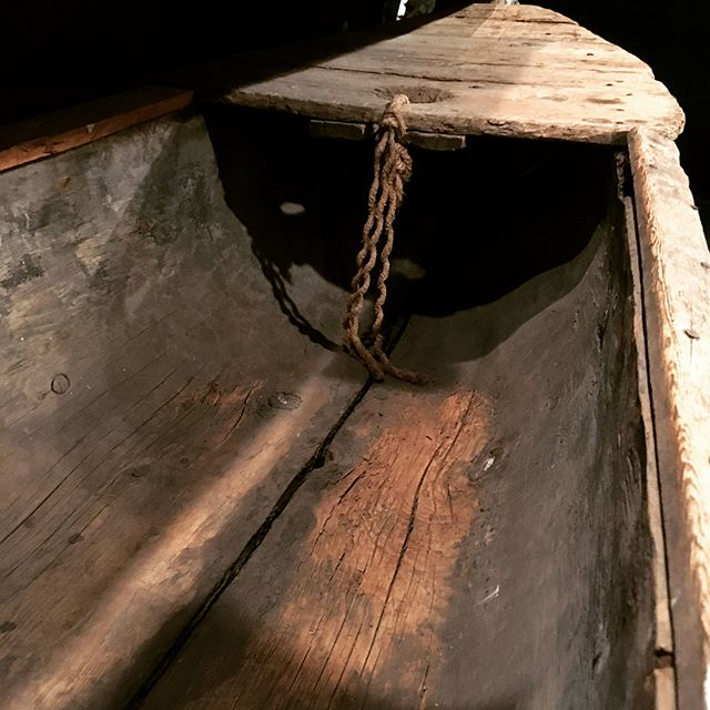 Two-log dugout canoe.  This dugout is made by joining two pine logs together. Dugouts of this type were used for salmon fishing along many New Brunswick rivers, including the Restigouche and Miramichi.  This particular canoe was made by John MacDonald of Black River, ca. 1910. #archaeology #archeology #dugout #canoe #salmonfishing #newbrunswickmuseum #miramichi #restigouche #woodcarving #traditional #watercraft
