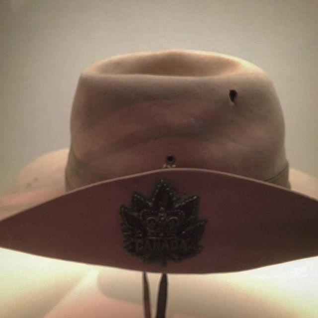 Stetson hat from the Canadian contingent of the South African Constabulary, ca. 1899 during the Boer War.  The hat was left atop an anthill by a Canadian soldier to draw sniper fire. The bullet hole testifies to the success of the attempt and the accuracy of the sniper. #archaeology #archeology #stetson #stetsonhat #southafrica #boerwar #sniper #closecall #canadianwarmuseum