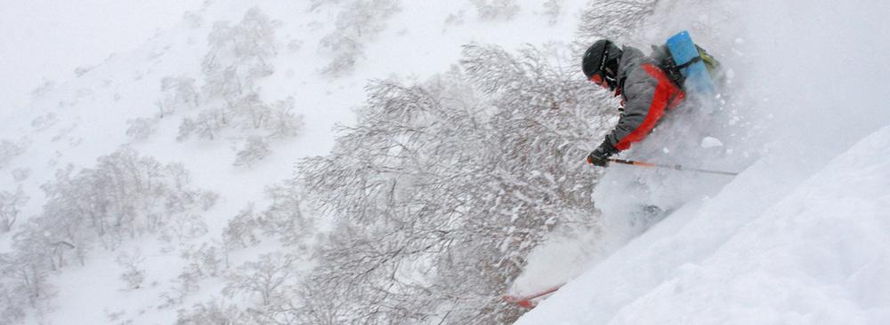 John Morrell in the Hokkaido powder.