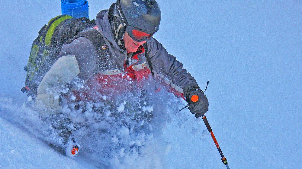 John Morrell in the deep Hokkaido powder.