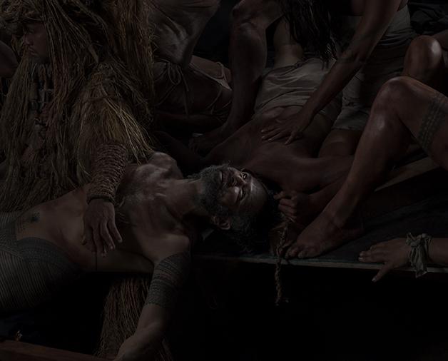 Death (La Pieta of the Raft)  2015 type C transparency, light box